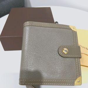 Louis Vuitton Suhali beige compact wallet